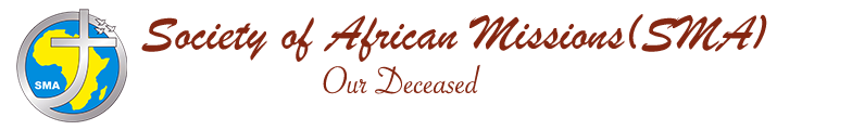 Les défunts | Société des Missions Africaines (SMA)